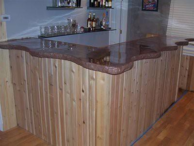 how to build a concrete bar top