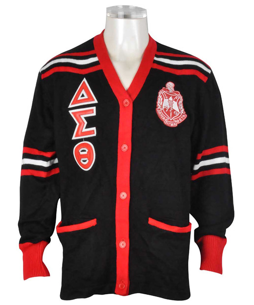 Delta Sigma Theta Cardigan Sweater Black Front Buffalo Dallas Flickr
