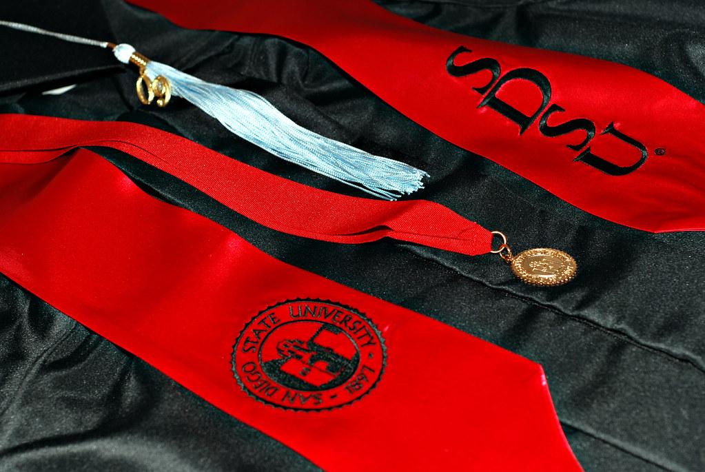 Graduation Regalia Cap Gown Tassel Medallion And