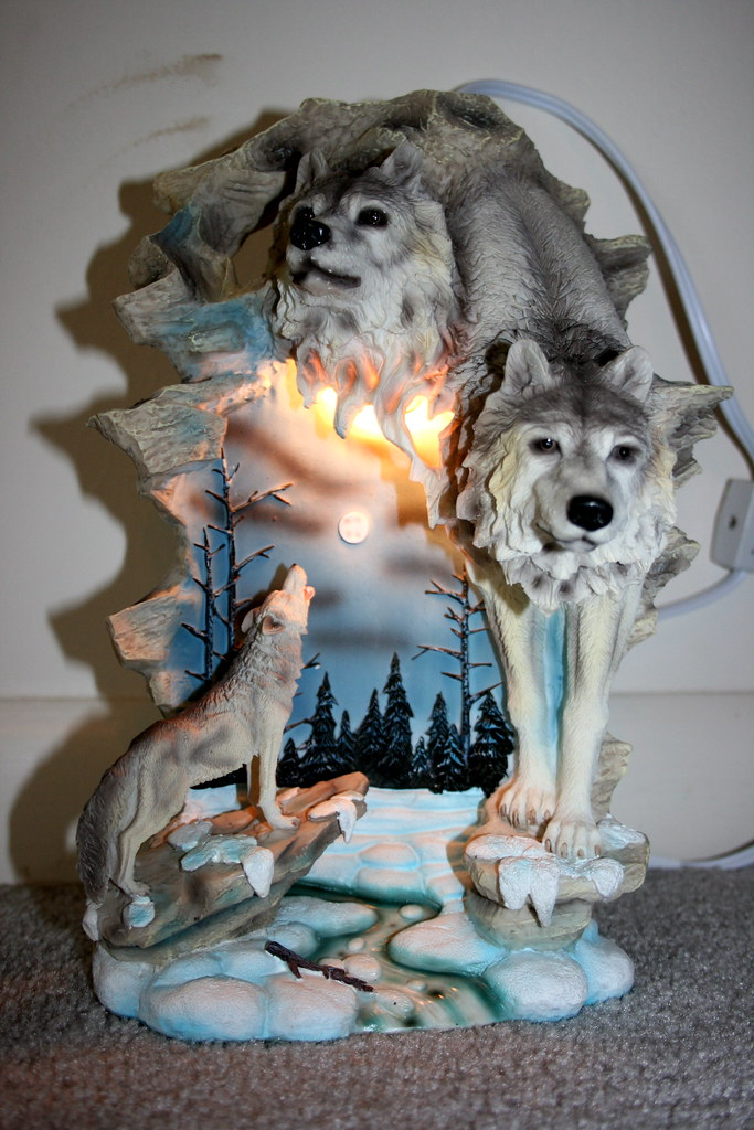 Wolf Lamp Wedding Present