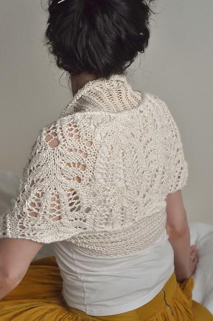 9959671f96e ... Princess Bride II - handknitted luxurious bridal shrug   bolero in  ivory shades   natural fibres