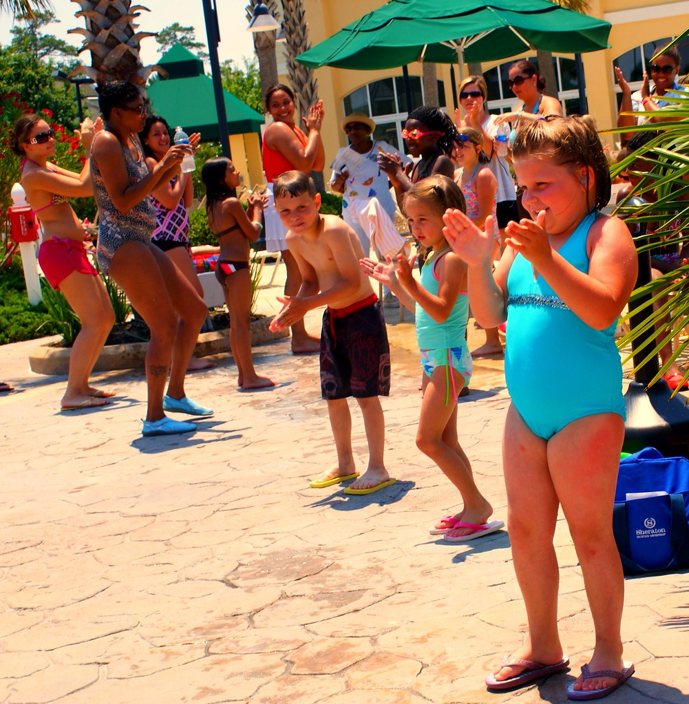 Dance dance dance pool dance party at the sheraton for Pool dance show