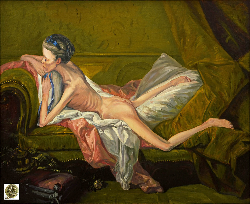 sofa on Boucher nude