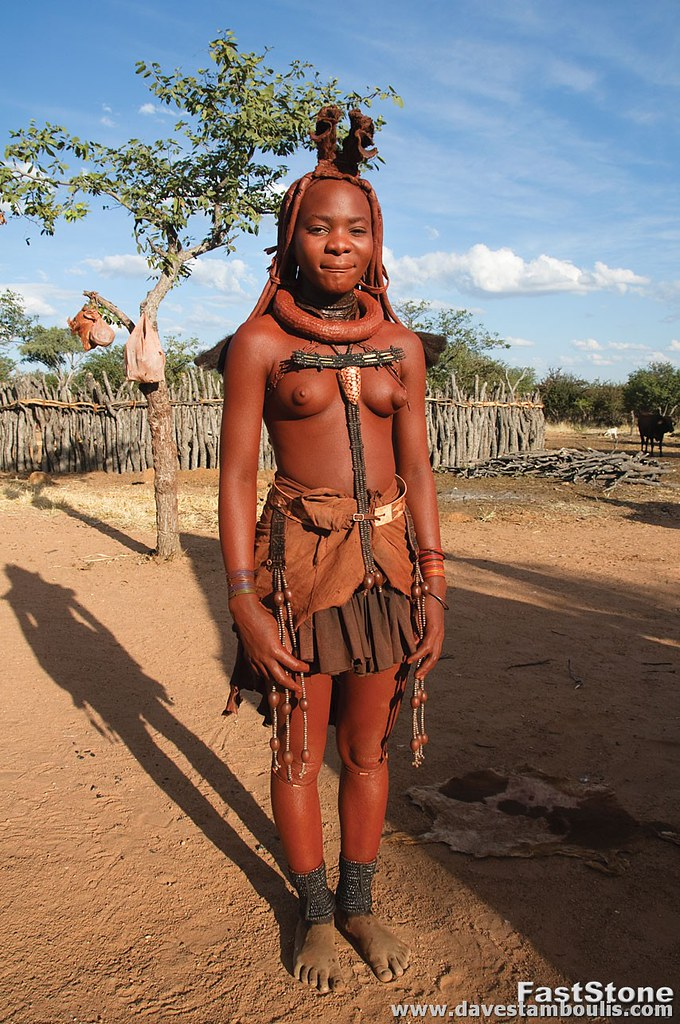 young tribe Himba girl african