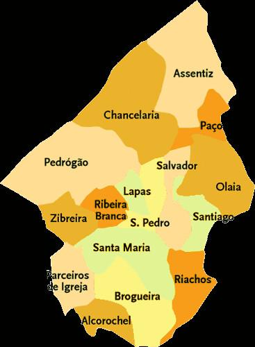 torres novas mapa Concelho de Torres Novas | Mapa das freguesias | Jorge Bastos | Flickr torres novas mapa