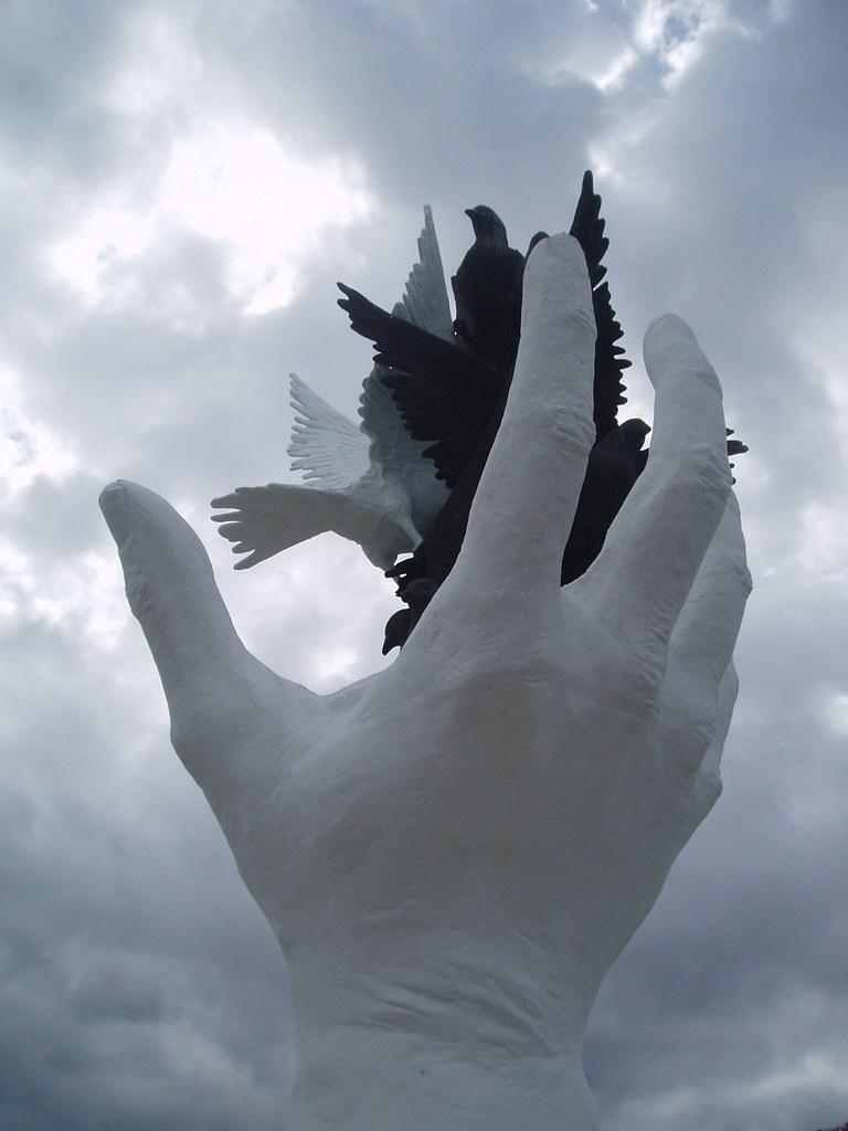 Hand Of Peace Peace Sculpture On The Seafront In