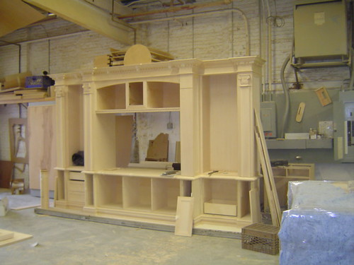 Custom Entertainment Center This Is A Shot Of How The