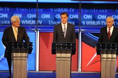 On the debate stage