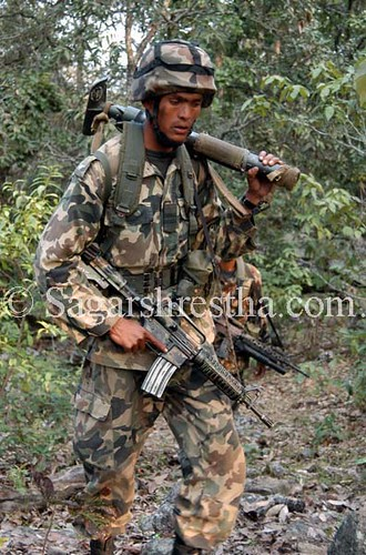 Nepal Army during deployment at Pandoon far wester region Nepal ...