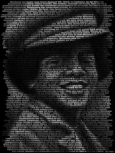 Michael Jackson, Text Portrait | by Ben Heine