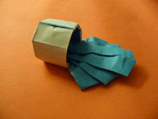 Spilled Cup of Water, by Andrew Hudson | by Origami Weekly