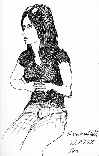 young girl haus am walde bremen bremen 26 august 2009 th flickr. Black Bedroom Furniture Sets. Home Design Ideas