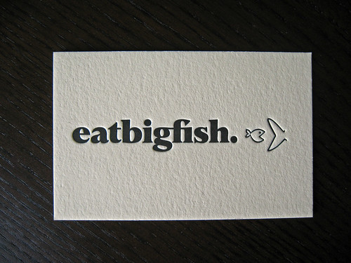 eat big fish letterpress business cards client