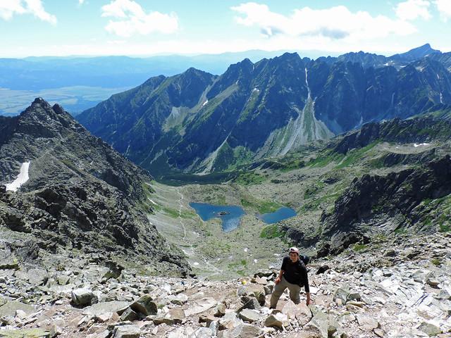 Alpine lakes: Veľké and Malé Žabie pleso, High Tatras, Slovakia