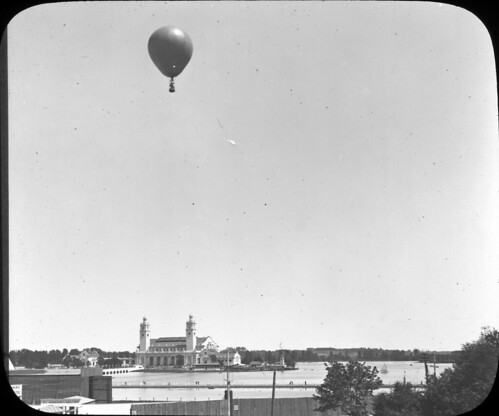 Balloon ascension with the exhibition buildings in the background | by OSU Special Collections & Archives : Commons