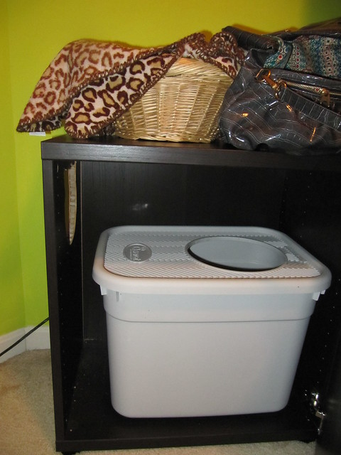 Ikea hack litter box cabinet flickr photo sharing for Ikea litter box