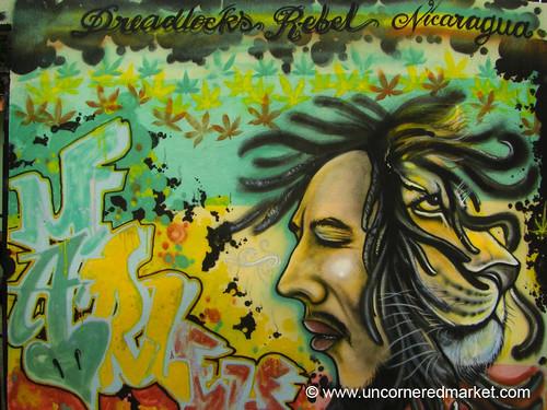 Rastafarian Graffiti - Managua, Nicaragua | Colorful rasta ...