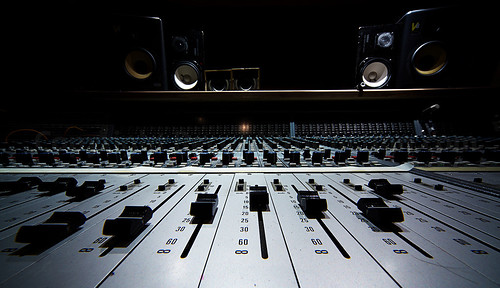 Neve Mixing Desk Recording Studio Wide Angle Shot Of A