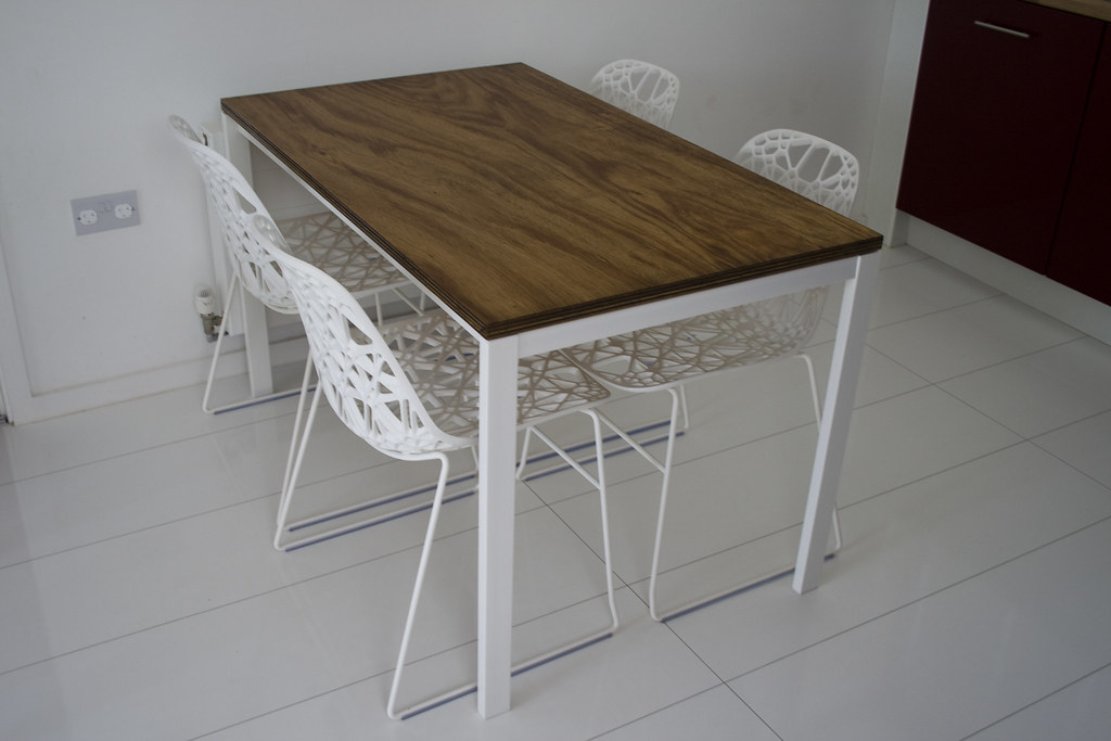 ... IKEA Table With Plywood Top | By Oxley Woods Photos