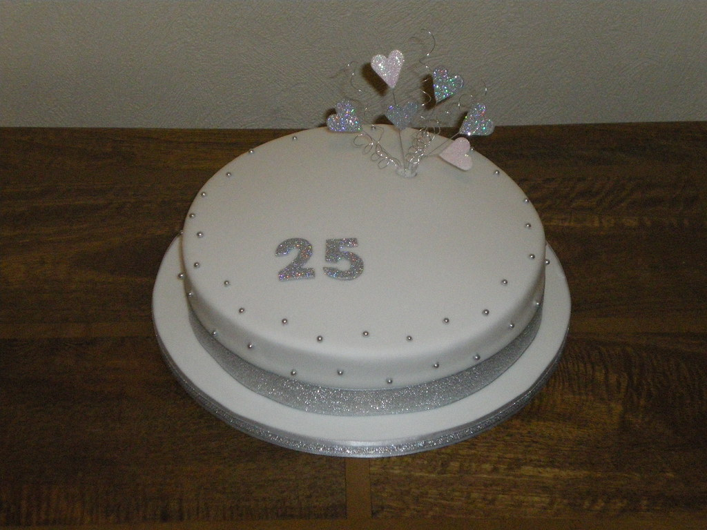 cakes for 25th wedding anniversary silver anniversary cake 25th wedding anniversary cake 2367