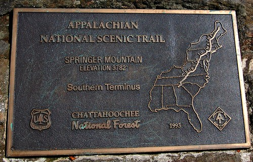 The Southern End Of The Appalachian Trail At Springer Moun