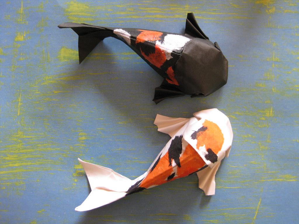 Origami koi fish instructions
