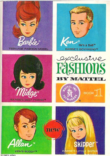 Vintage Barbie Fashion Book 1 Love This Artwork Flickr