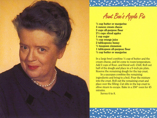 Mayberry Aunt Bee's Apple Pie Recipe Postcard | by crayolamom