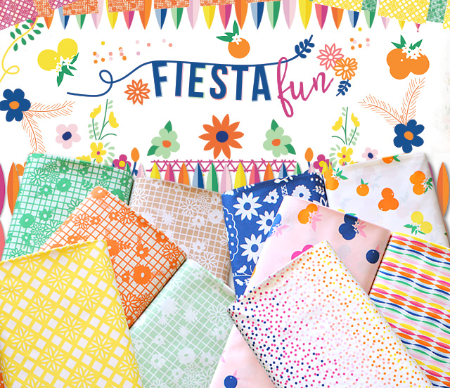 Art Gallery Fabrics Fiesta Fun Collection by Dana Willard