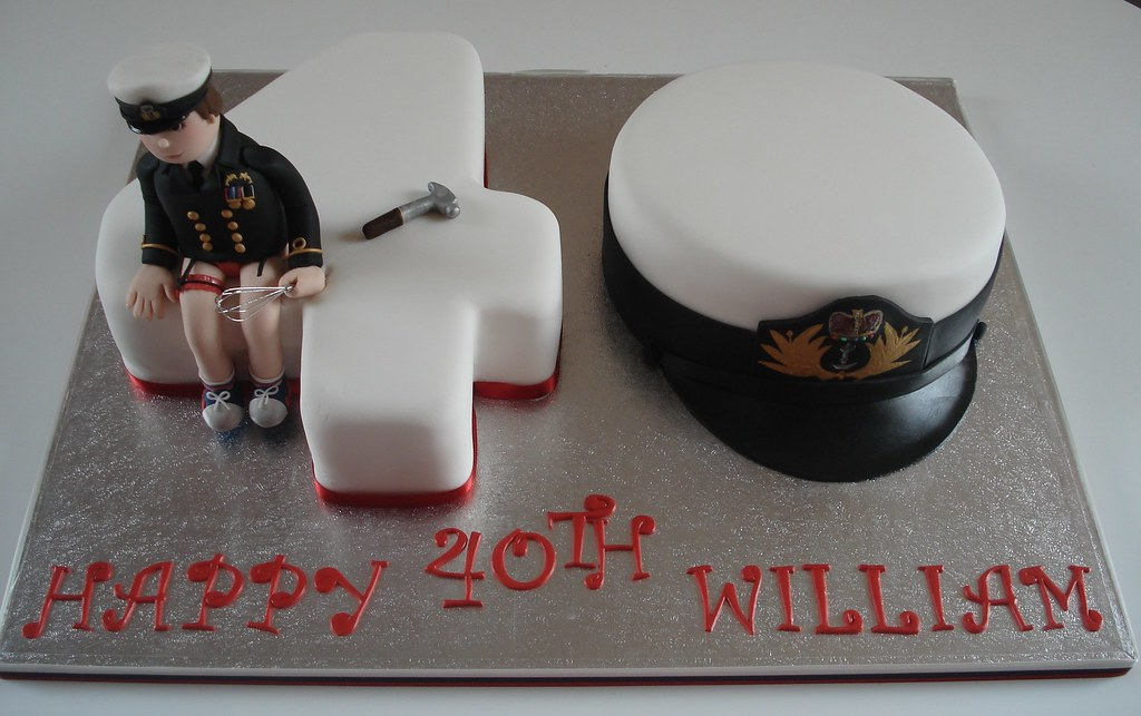 Number 40 Birthday Cake This Cake Was For A Royal Navy