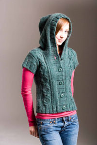 Heather Hoodie Vest | by boulderknitter