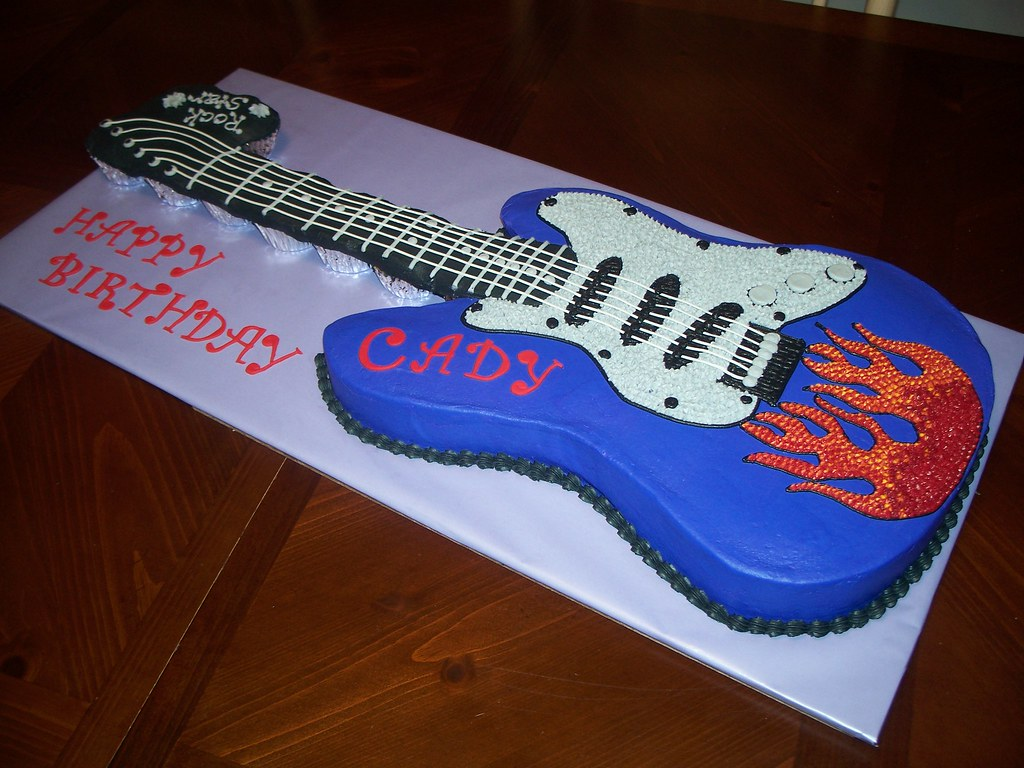 Electric Guitar Birthday cake Jennifer Flickr