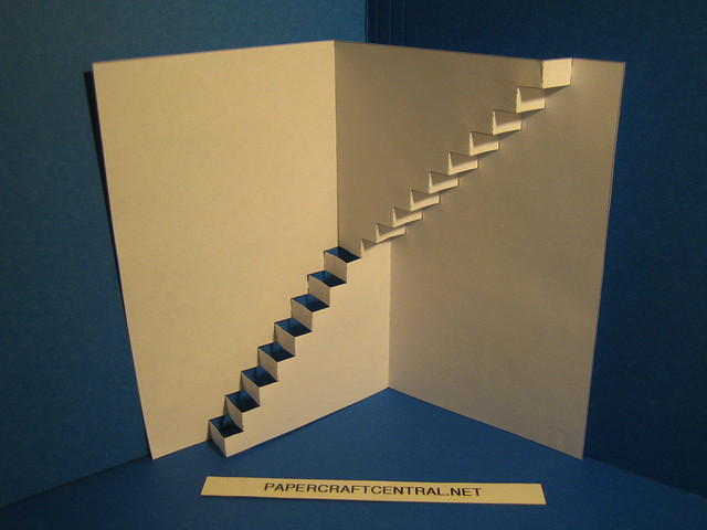 Kirigami Stairs Up For More Visit Papercraftcentral