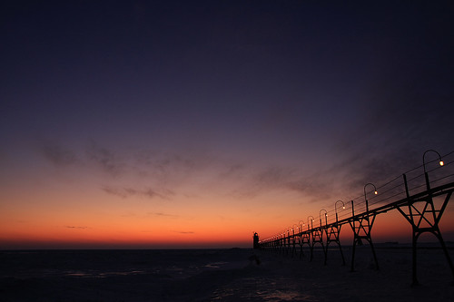south haven after sunset 2 lighthouse of south haven mi