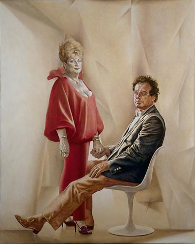 Herman Gordijn, Portret van Miep en Loek Brons, olieverf o… | Flickr: https://www.flickr.com/photos/museumdefundatie/3899749687