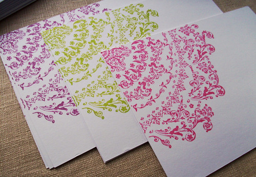 Lace Doily Flat Note Cards | by Birdcage Cards