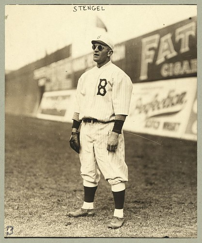 [Casey Stengel, full-length portrait, wearing sunglasses, while playing outfield for the Brooklyn Dodgers] (LOC) | by The Library of Congress