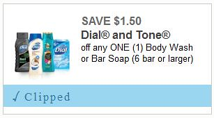 dial body wash or bar soap coupon