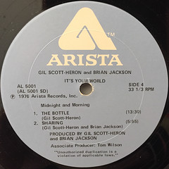 GIL SCOTT-HERON AND BRIAN JACKSON:IT'S YOUR WORLD(LABEL SIDE-D)