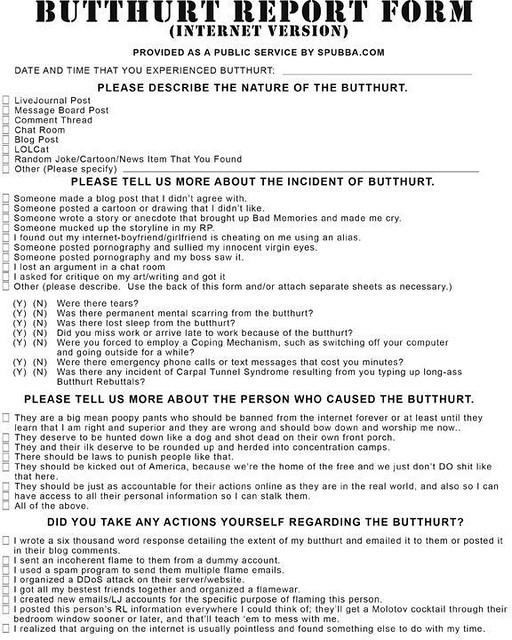 butthurt web forum complaint form | rrhyne56 | Flickr