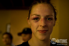 Sara Kaufman after the fight | by showtime_sports