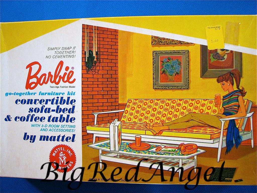 Vintage Barbie Go Together Furniture Circa 1964 Big Red