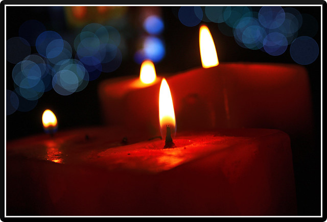 "Candle | ""Go within every day and find the inner strength ..."