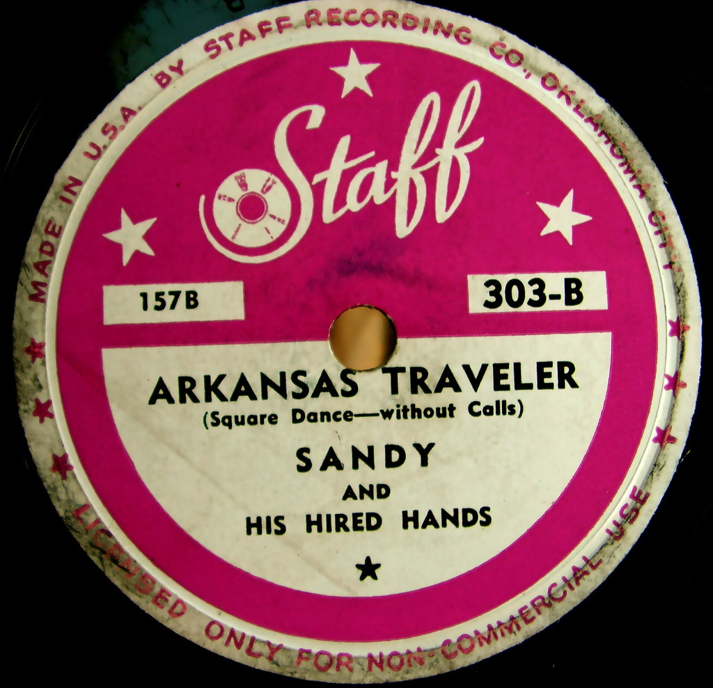 Staff vintage record label arkansas traveler sandy and h for Classic house record labels