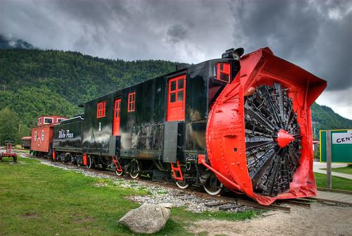 Old Drill Train Fotografiada En Skagway Alaska