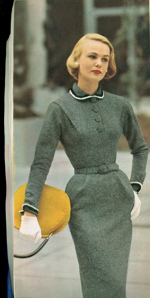 1950s Grey Dress Genibee Flickr