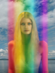 LARRY CARLSON, Rainbow Portrait, digital photography, 2010. | by LARRY  CARLSON