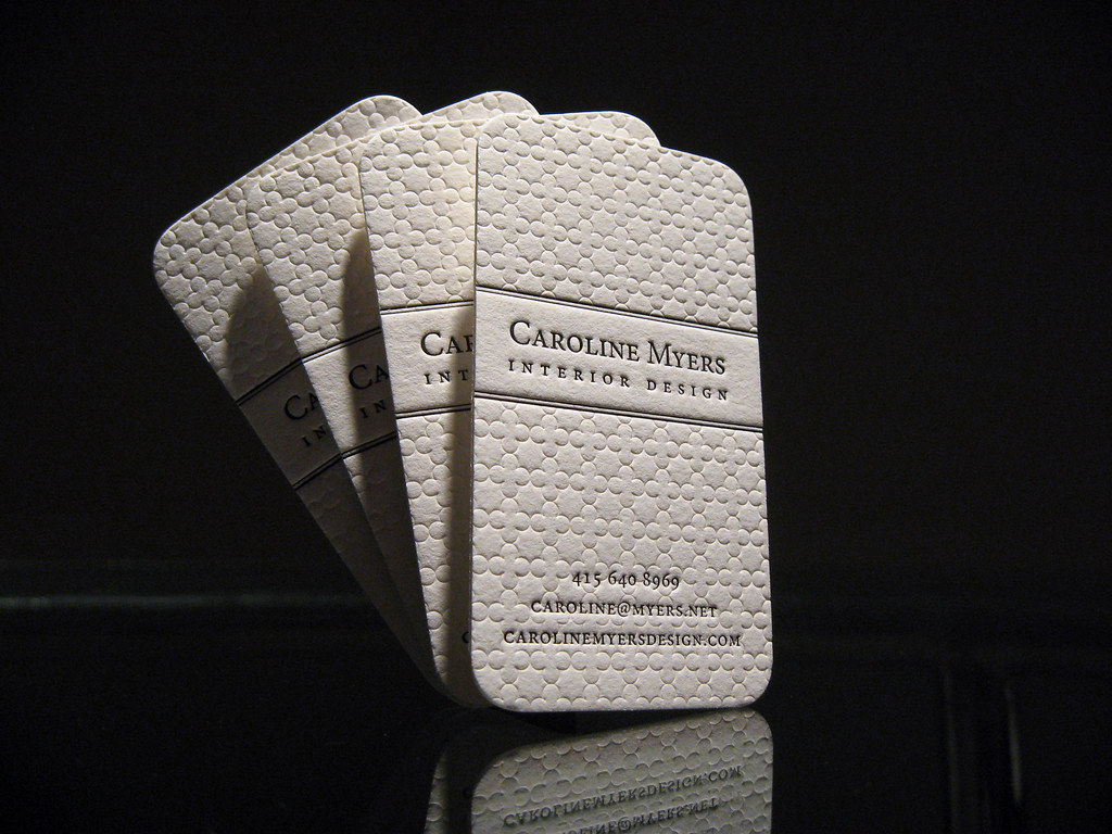 Textured Letterpress Cards We Printed These Cards For