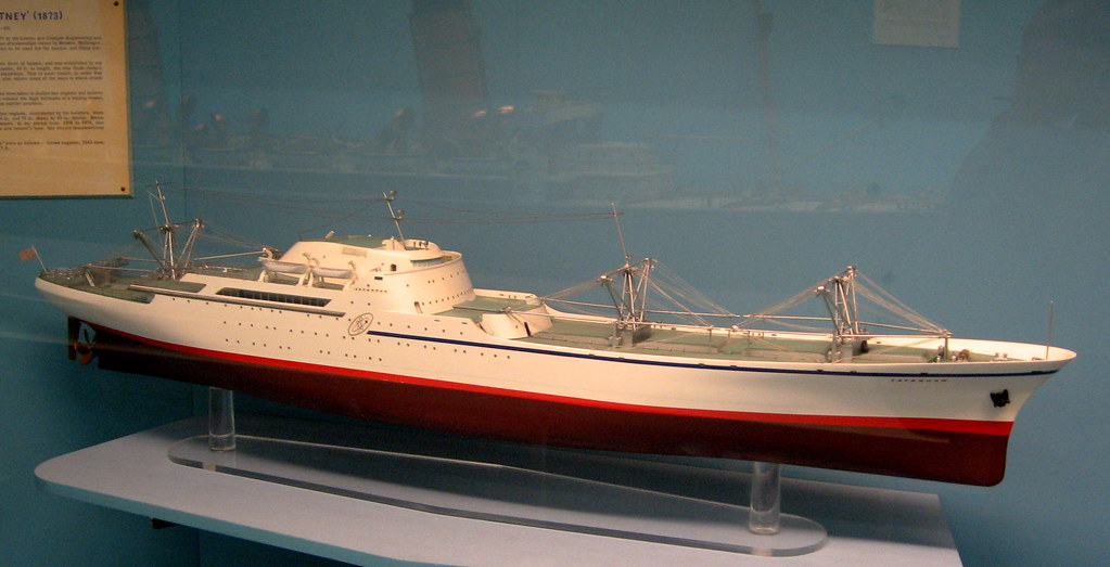Model Of Nuclear Powered Cargo Ship