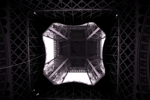Eiffel Tower seen from the bottom | by mamuangsuk